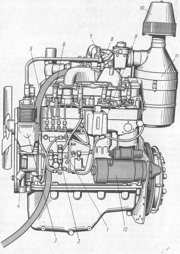 Дизель Д-245 (вид слева):