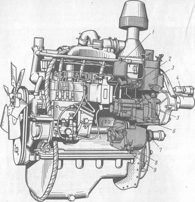 9 — редуктор пускового