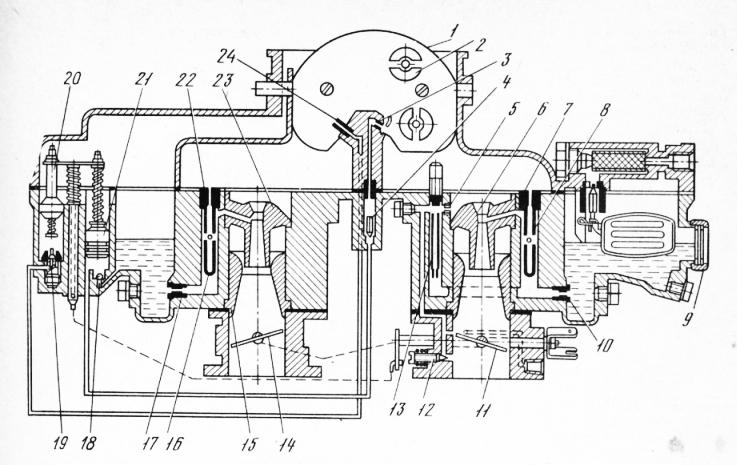 Схема карбюратора К-126Г: 1