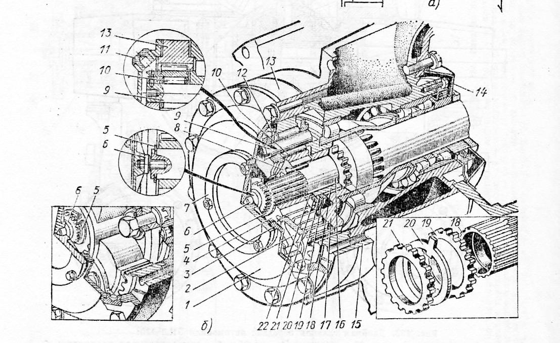 автомобиля МАЗ: а — схема;