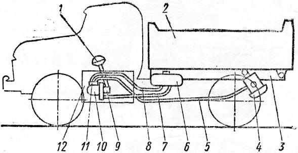 Схема расположения узлоз