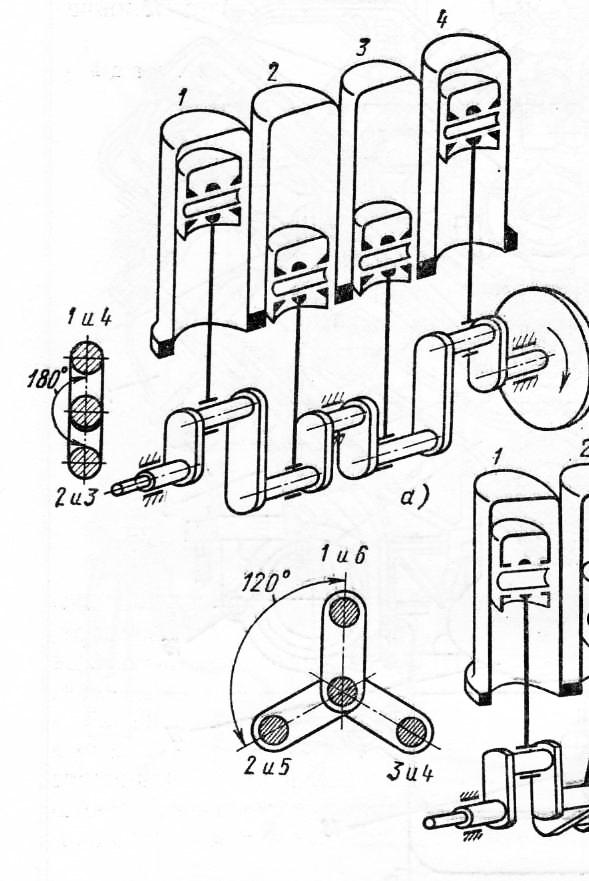 четырехтактных двигателей: