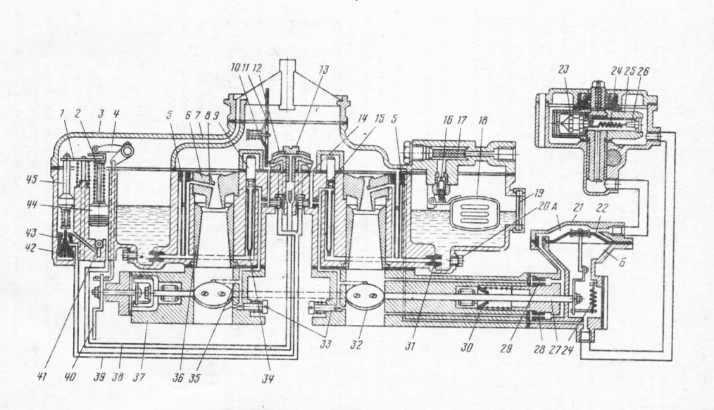 Карбюратор К-126Б: 1 — планка