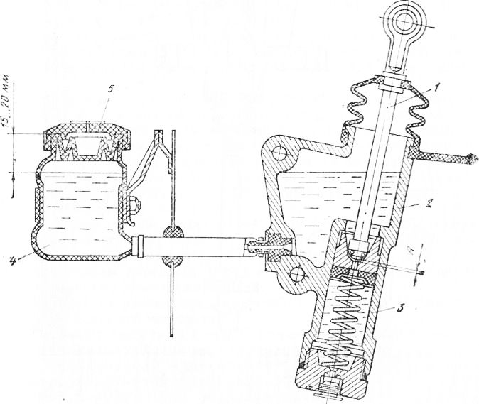 Схема цилиндра сцепления камаз 371