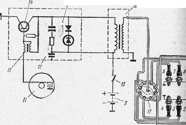 Схема батарейного