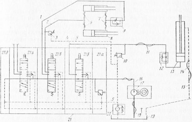Гидросистема электропогрузчика