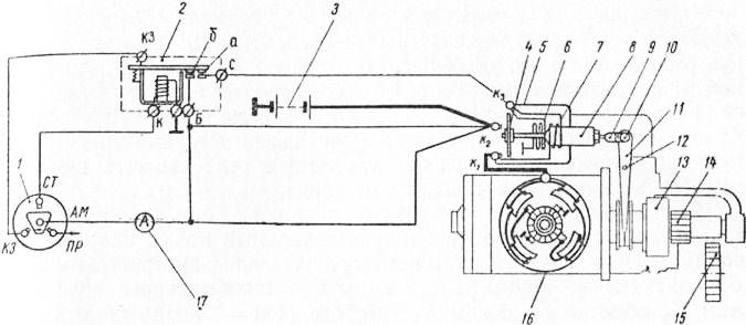 Схема подключения реле стартера газ 53